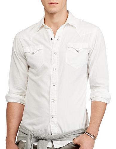 Polo Ralph Lauren Cotton Oxford Western Shirt-WHITE-Large 88968079_WHITE_Large