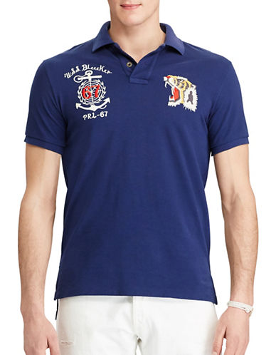 Polo Ralph Lauren Souvenir Mesh Polo-DARK COBALT-Small