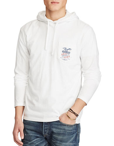 Polo Ralph Lauren Cotton Jersey Hooded Tee-WHITE-Large 88968132_WHITE_Large
