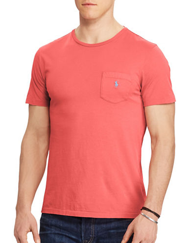 Polo Ralph Lauren Jersey Pocket Tee-RED-5X Big