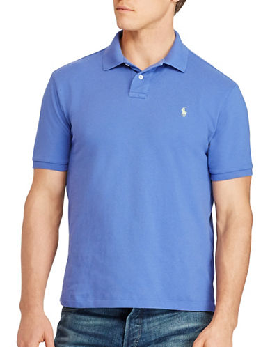 Polo Ralph Lauren Classic Weathered Mesh Polo-BLUE-5X Tall