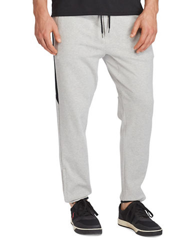 Polo Ralph Lauren Big and Tall Knit Cotton Track Pants-GREY-1X Big 88922135_GREY_1X Big