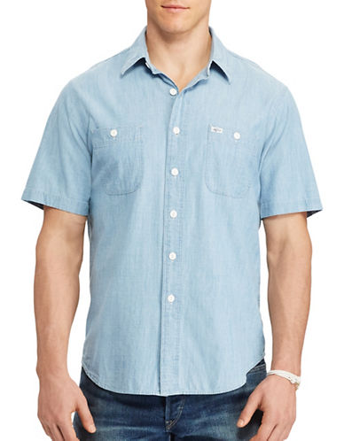 Polo Ralph Lauren Chambray Workshirt-INDIGO-4X Tall