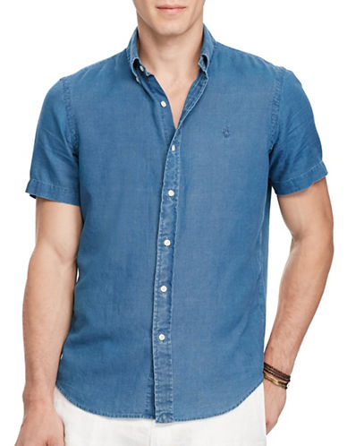 Polo Ralph Lauren Classic-Fit Cotton Shirt-NAVY-4X Big