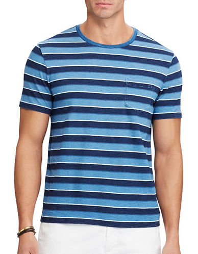 Polo Ralph Lauren Classic-Fit Cotton Tee-LIGHT INDIGO-4X Big