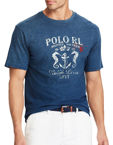 Polo Ralph Lauren Classic-Fit Cotton Tee-INDIGO-4X Tall