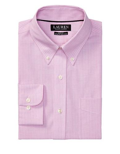 Lauren Green Slim-Fit Striped Poplin Dress Shirt-MAGNOLIA-17-32/33