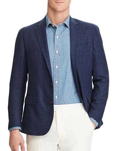 Polo Ralph Lauren Morgan-Fit Textured Blazer-BLUE-44