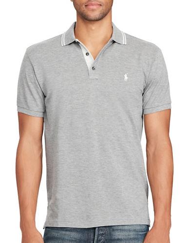 Polo Ralph Lauren Custom-Fit Cotton Mesh Polo-GREY-X-Large 88963579_GREY_X-Large