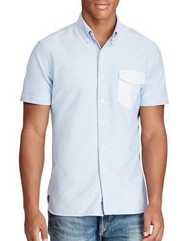 Polo Ralph Lauren Standard Fit Cotton Shirt-BLUE-X-Large