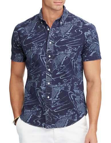 Polo Ralph Lauren Classic-Fit Printed Cotton Shirt-PRINT-4X Tall