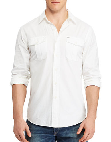 Polo Ralph Lauren Classic-Fit Beach Twill Shirt-WHITE-3X Tall
