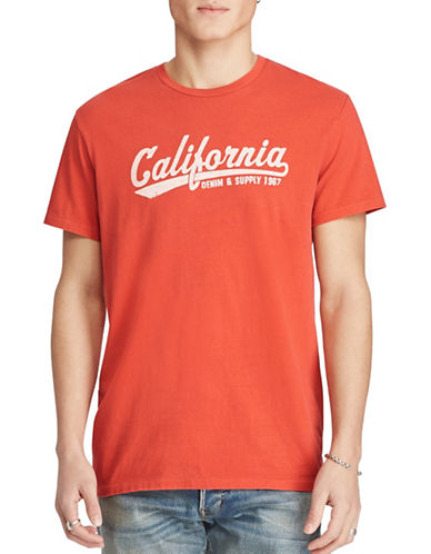 Denim & Supply Ralph Lauren California Graphic T-Shirt-RED-Large 88969393_RED_Large
