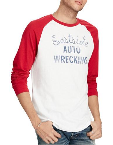 Denim & Supply Ralph Lauren Graphic Baseball T-Shirt-WHITE-Large 88969438_WHITE_Large