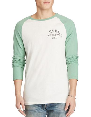 Denim & Supply Ralph Lauren Graphic Baseball T-Shirt-WHITE-Large 88969443_WHITE_Large