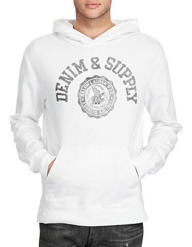 Denim & Supply Ralph Lauren Cotton French Terry Hoodie-WHITE-Medium 88969654_WHITE_Medium