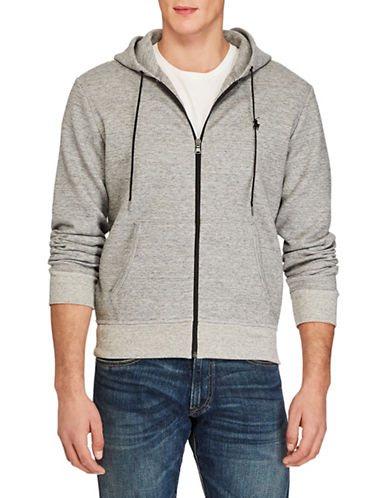 Polo Ralph Lauren Double-Knit Full-Zip Hoodie-GREY-X-Large