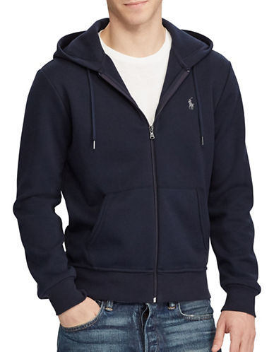 Polo Ralph Lauren Double Knit Hoodie-AVIATOR NAVY-X-Large