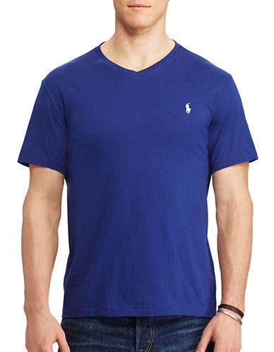 Polo Ralph Lauren Classic-Fit Solid Cotton T-Shirt-YALE BLUE-5X Big