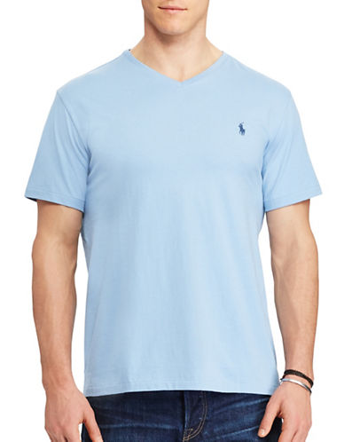 Polo Ralph Lauren Classic-Fit Solid Cotton T-Shirt-BLUE-5X Tall