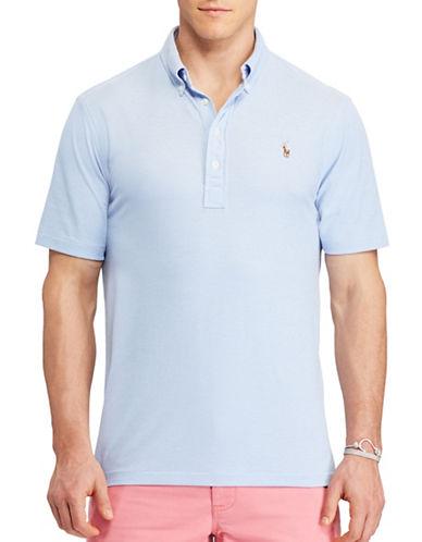 Polo Ralph Lauren Hampton Oxford Pique Polo-HARBOUR ISLAND BLUE-4X Tall
