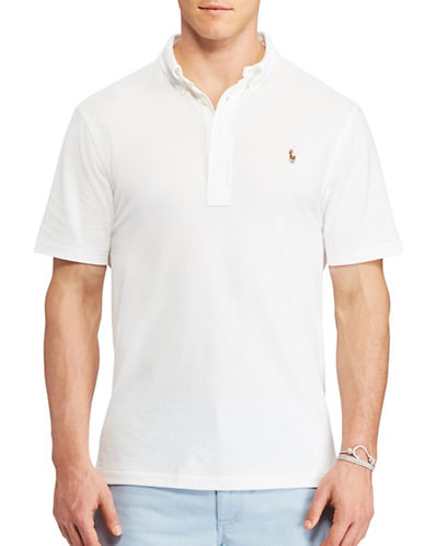 Polo Ralph Lauren Hampton Oxford Pique Polo-WHITE-3X Tall