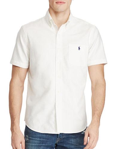 Polo Ralph Lauren Short-Sleeve Oxford Shirt-WHITE-Large 88968201_WHITE_Large