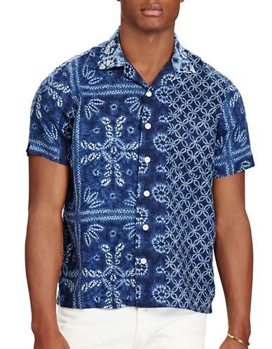 Polo Ralph Lauren Indigo Shibori Linen Camp Shirt-PRINT-Large 88967568_PRINT_Large