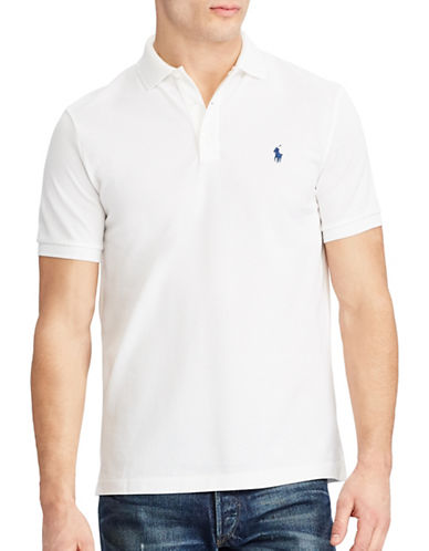Polo Ralph Lauren Classic Fit Stretch-Mesh Polo-WHITE-Small