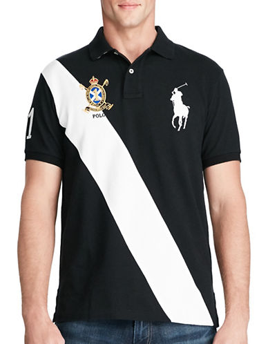 Polo Ralph Lauren Classic Fit Big Pony Polo Shirt-BLACK-X-Large