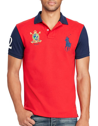 Polo Ralph Lauren Classic Fit Big Pony Polo Shirt-RED-Medium