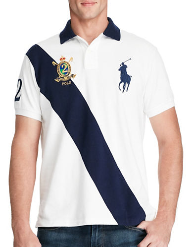 Polo Ralph Lauren Classic Fit Big Pony Polo Shirt-WHITE-X-Large
