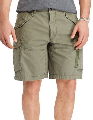 Polo Ralph Lauren Solid Classic-Fit Cargo Shorts-MOUNTAIN GREEN-48 Big