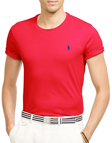 Polo Ralph Lauren Custom Fit Jersey Crew T-Shirt-RED-X-Large 88963192_RED_X-Large