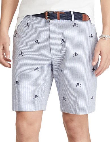Polo Ralph Lauren Stretch Classic-Fit Seersucker Shorts-BLUE-38