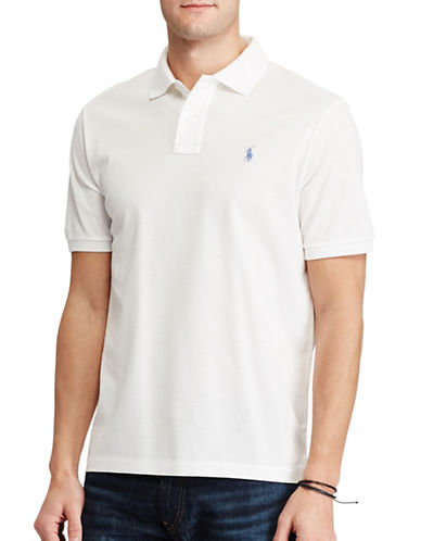 Polo Ralph Lauren Classic-Fit Mesh Polo-WHITE-Medium