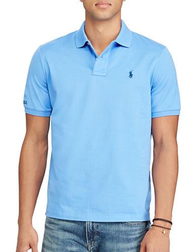 Polo Ralph Lauren Classic-Fit Cotton Mesh Polo-BLUE-Medium