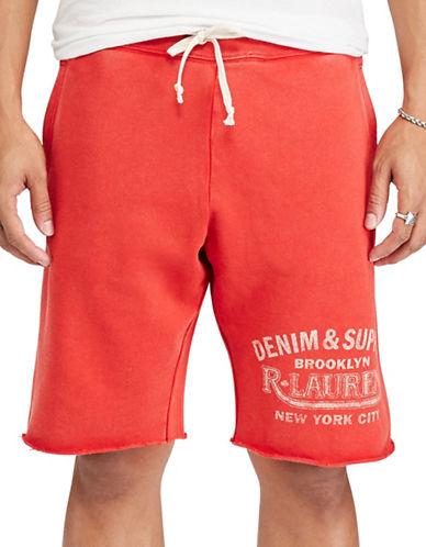 Denim & Supply Ralph Lauren Cotton French Terry Shorts-RED-Medium 88969424_RED_Medium