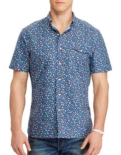 Polo Ralph Lauren Floral Printed Oxford Shirt-BLUE-4X Big