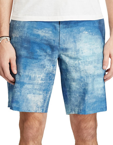 Polo Ralph Lauren Chambray All-Day Beach Shorts-BLUE-36