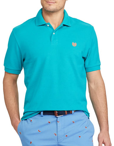 Chaps Big and Tall Cotton Mesh Polo-BLUE-2X Big