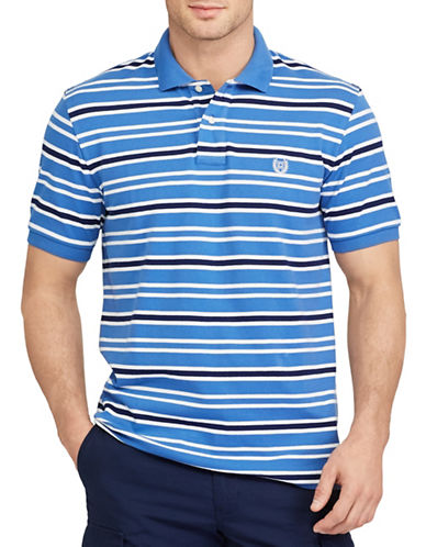 Chaps Big and Tall Striped Stretch Mesh Polo-BLUE-4X Big