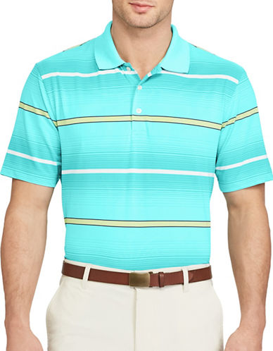 Chaps Striped Performance Polo-BLUE-X-Large 89050607_BLUE_X-Large