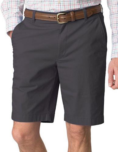 Chaps Stretch-Poplin Shorts-GREY-38