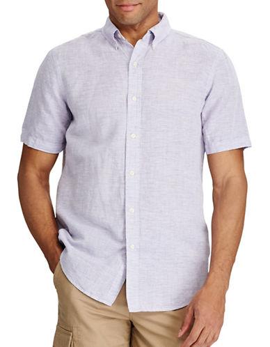 Chaps Custom Fit Button-Front Shirt-PURPLE-X-Large