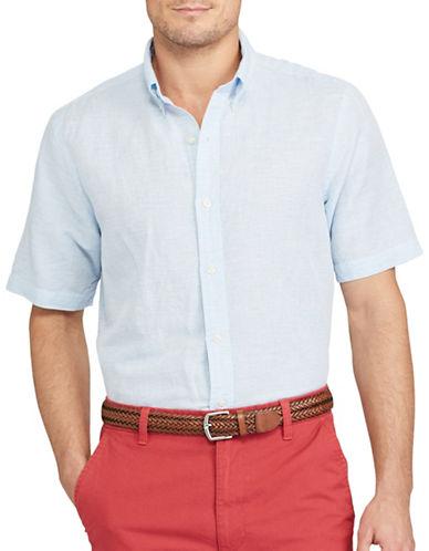 Chaps Big and Tall Linen Cotton-Woven Shirt-BLUE-3X Big