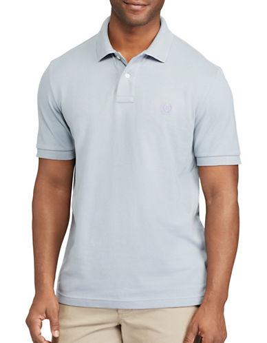 Chaps Big and Tall Cotton Mesh Polo-LIGHT BLUE-4X Big
