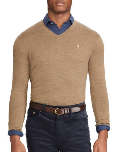 Polo Ralph Lauren Washable Wool Sweater-BROWN-Medium