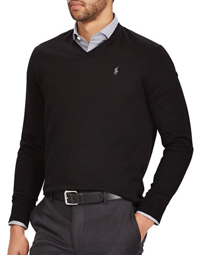 Polo Ralph Lauren Washable Wool Sweater-BLACK-Medium