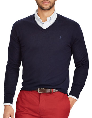 Polo Ralph Lauren Washable Wool Sweater-BLUE-Large